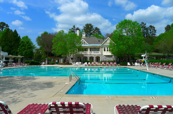 Pool located at Rivermoore